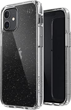 Speck Products Presidio Perfect Clear Glitter Iphone 12 Mini Case Transparent With Gold Glitter Clear Elektronik