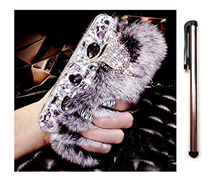 big sale a9392 a0a1b Buy Vikson Stylish CLUCH LOOK Soft Fur Case for iPhone 6+ and iPhone ...