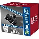 Sistema de iluminación Konstsmide distribuidor, 1 entrada, 4 salidas, negras, 4603-000