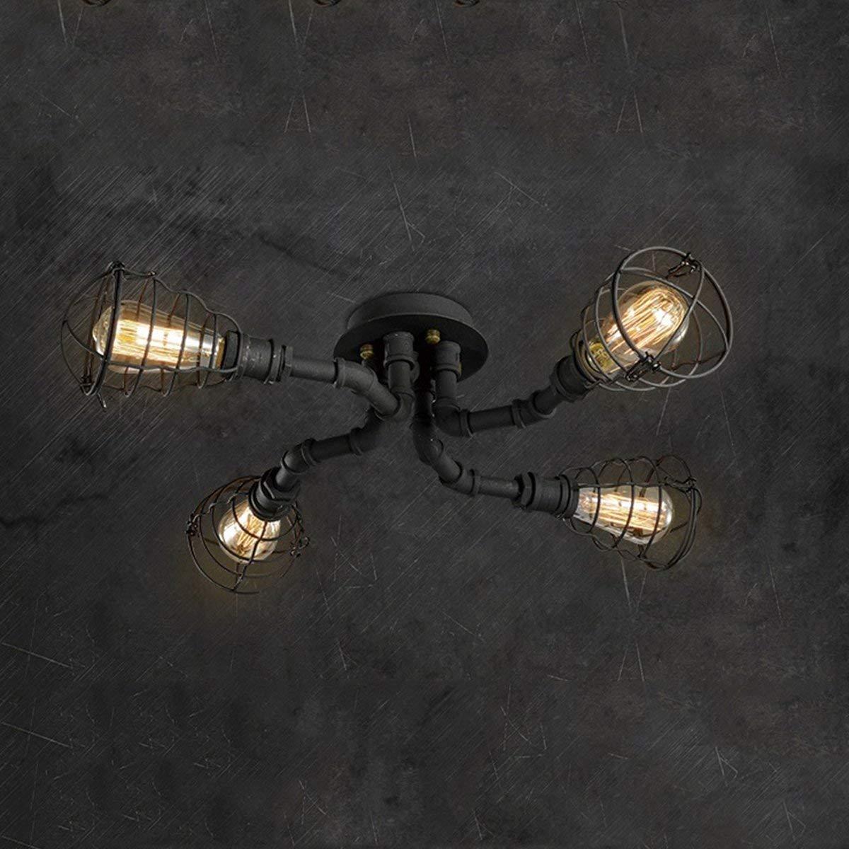YLCJ Lámpara de parot Retro Creative Single Head LED Macaron Canopy Parot Techo Graschwarz Almacén Villa Parot Parot Iluminación (Farbe  Grün)