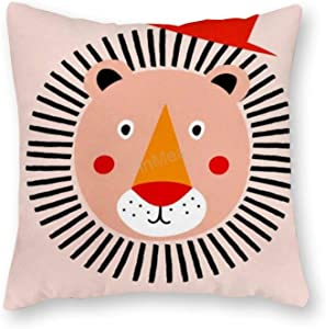 VinMea Decorative Pillow Covers - Square Well-Dressed-Lion-Little-Flourishes Throw Pillow Case Cushion Cover Home Decor, 20 X 20 Inches