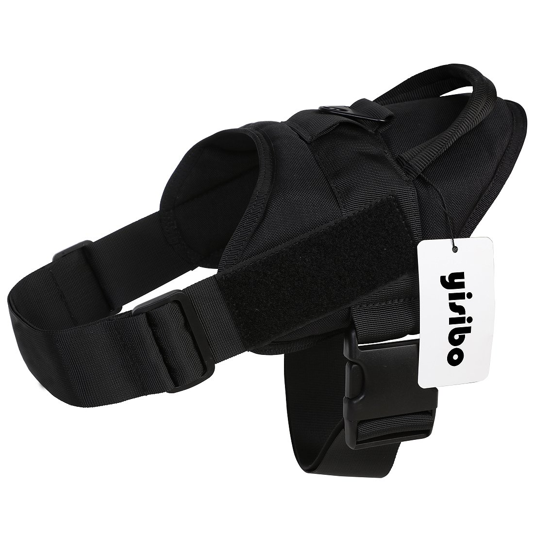 Black Small(20\ Black Small(20\ yisibo Service Training Dog Vest Harness Tactical Military Patrol K9 Working No-Pull Dog Harness with Handle(S(20 -27  Chest Girth),Black)