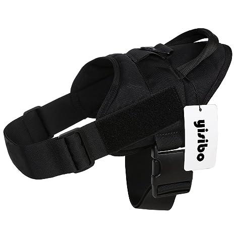 Yisibo - Chaleco táctico con arnés para perros policía o del ...