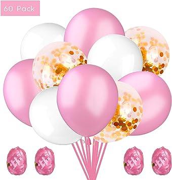 """25 X 12/"""" Calidad Oscuro Rosa Lunares Globos Fiesta Cumpleaños Celebración Decoración"""