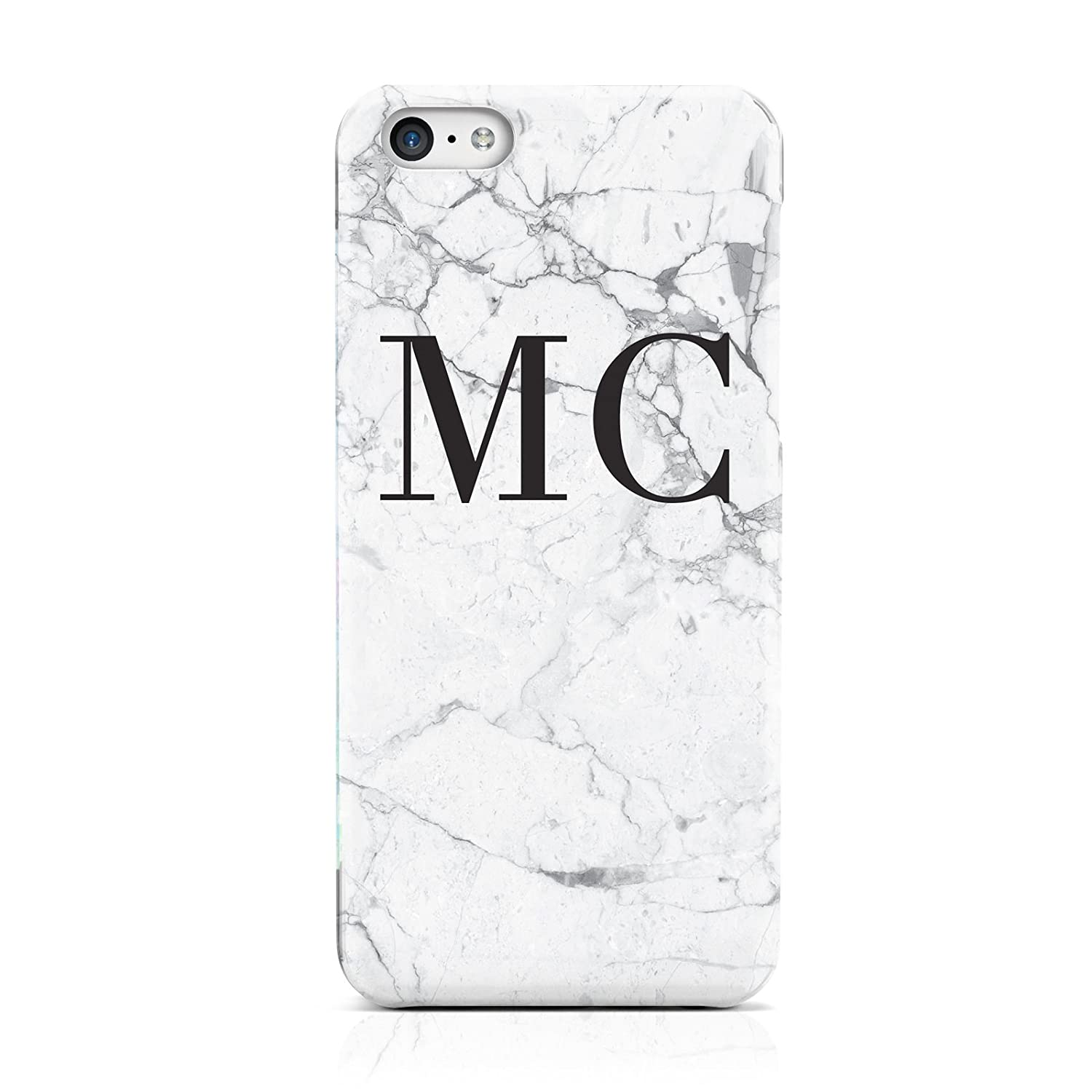 57c2ca0e9 PERSONALISED MARBLE INITIALS HARD PHONE CASE COVER FOR APPLE IPHONE 5 5S  SE: Amazon.co.uk: Electronics