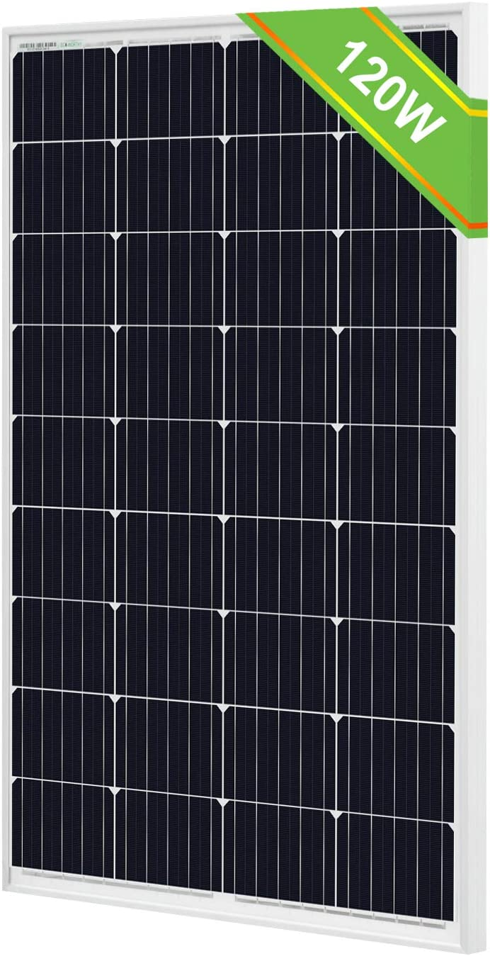 ECO-WORTHY 12V Solar Panel, 120W Off Grid Tie Solar Panel, High Efficiency Mono Module for RV Camper Van Trailer Battery Charge