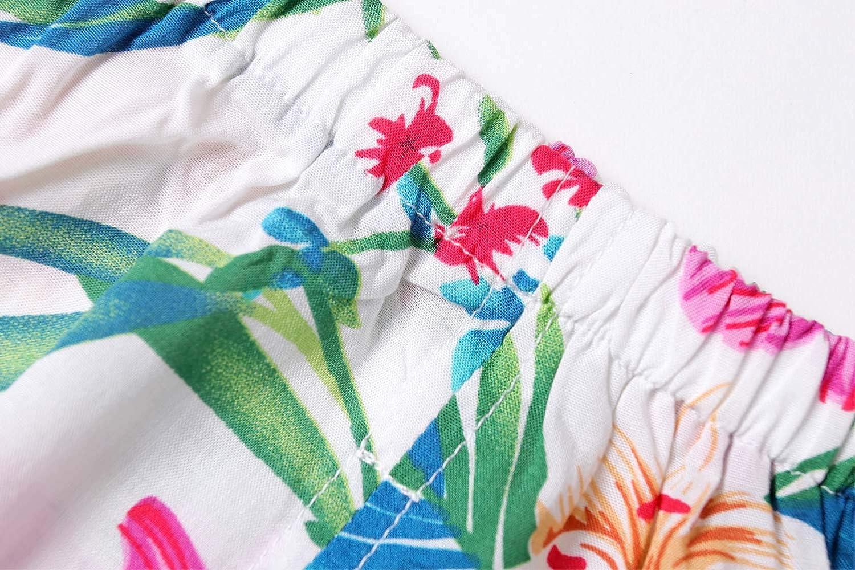ZHUANNIAN Baby Toddler Girls Outfits 2PC Cami Tops and Shorts Set Summer Boho Hawaiian