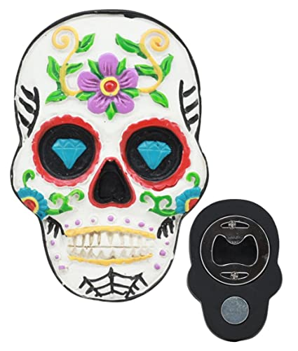 Skull With Headphones Large Fridge Magnet