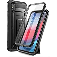 SUPCASE iPhone XS Max case, SUPCASE [Unicorn Beetle Pro Series] Full-Body Rugged Holster Case with Built-In Screen Protector kickstand for iPhone XS Max 6.5 inch 2018 Release (Black)