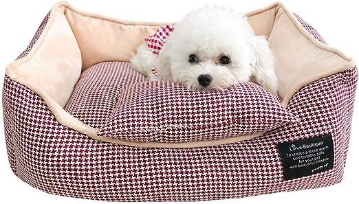Rectángulo Ortopédico Cama para Mascotas Colchón Lavable Almohadillas Parte Inferior Impermeable para Perros y Gatos Chaise Pet Beds (Color : Red, Tamaño : XL): Amazon.es: Productos para mascotas