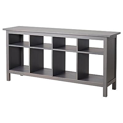 Amazon new ikea hemnes sofa table black brown solid wood ikea hemnes console table gray dark gray stained watchthetrailerfo