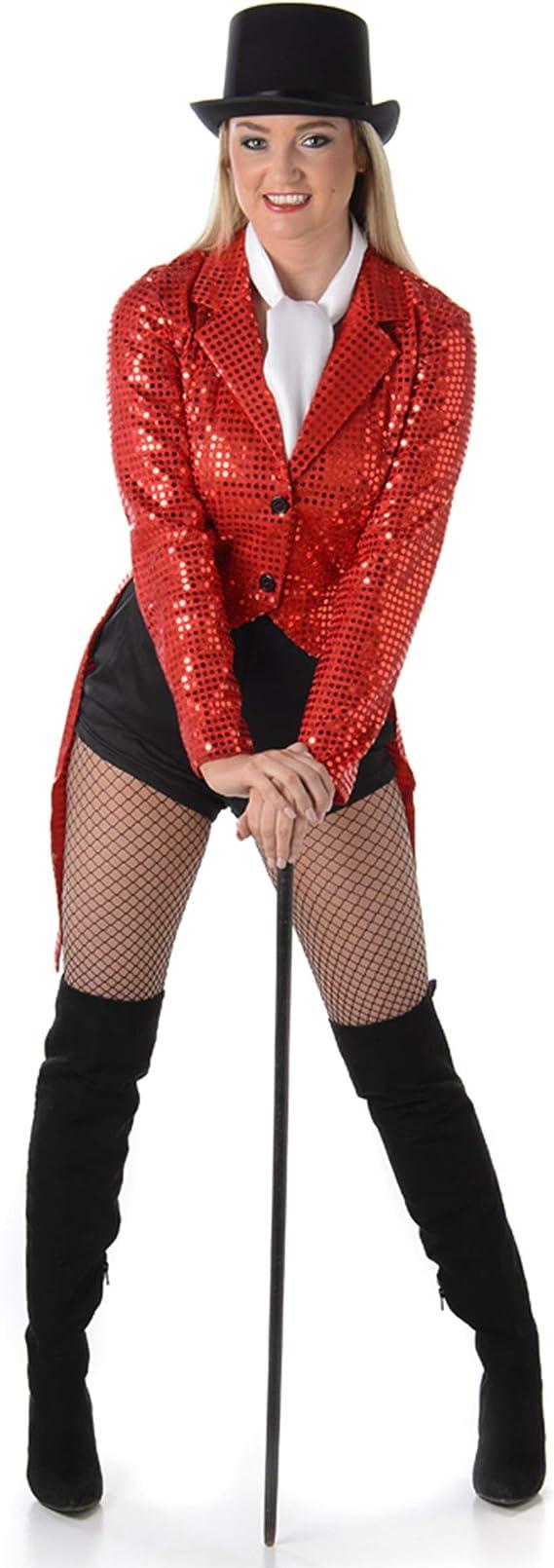 Generique Disfraz de Cabaret Rojo Mujer L: Amazon.es: Juguetes y ...