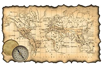Amazoncom Ancient Map Of The World Antique Style Map Poster X - Map of the world antique style