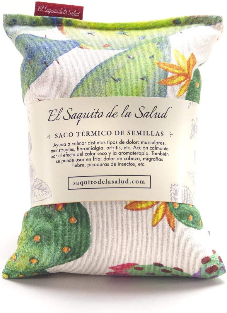 Saquito Térmico de Semillas Microondas Cactus (Lavanda, S (23 x 15 ...
