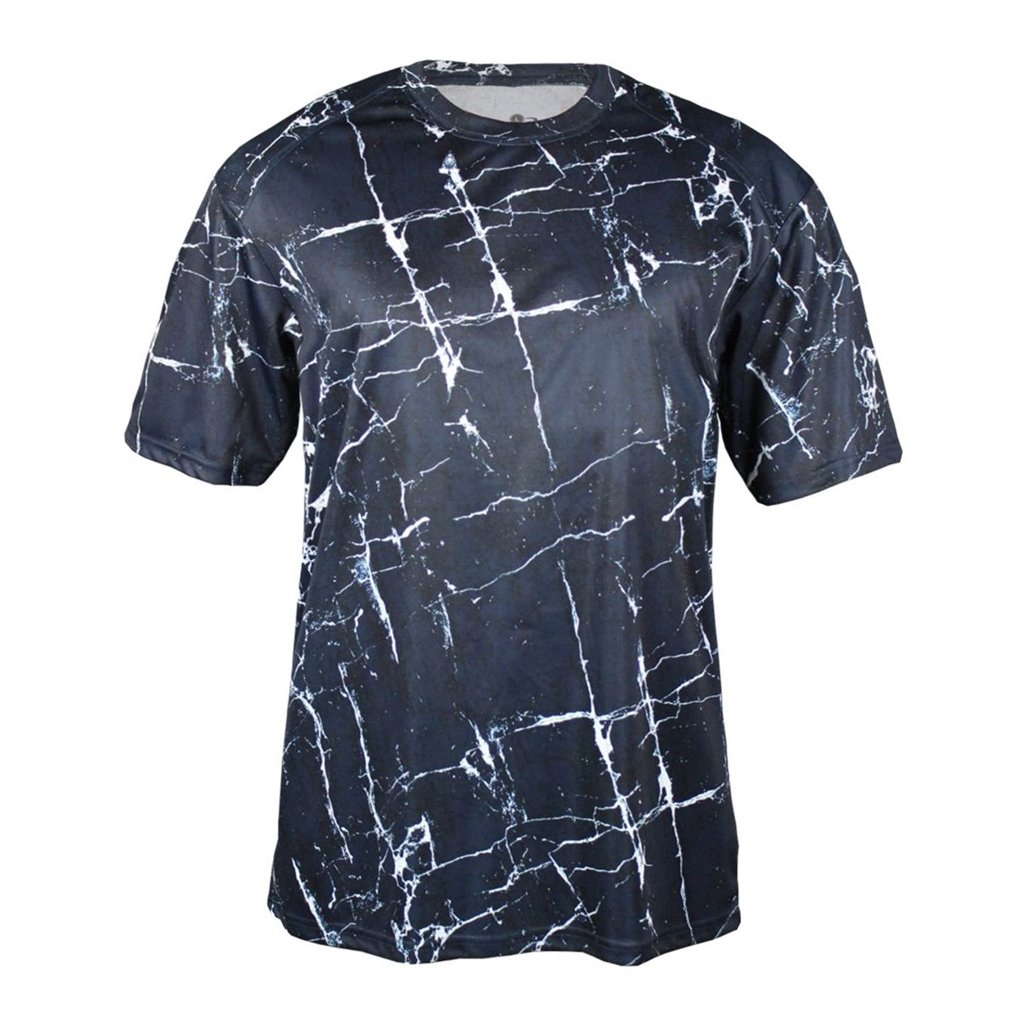 Badger Sport Youth Shocker Sublimated Tee (Small, Navy Shock) by Badger Sport