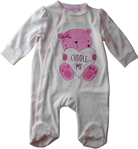6 – 9 meses – Bebé Niñas Blanco Crema y rosa Cuddle Me oso ...