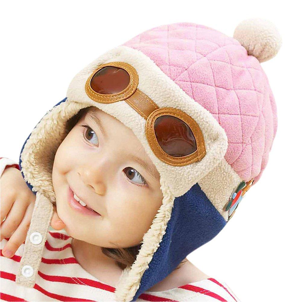 CHIC-CHIC Kids Boys Girls Winter Warm Pilot Aviator Beanie Hat Cap Skiing Earflap Hats ES2200