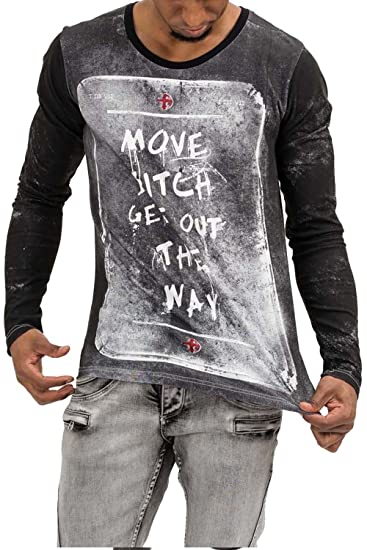 trueprodigy Casual Homme Tee Shirt Manche Longue Motif imprimé, Vetements  Swag Marque col Rond (Manche Longue   Slim fit Classic), Shirt Mode  Fashion  ... 6812e12b203