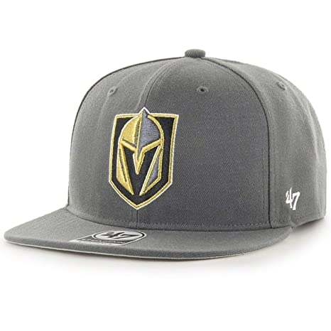 Image Unavailable. Image not available for. Color   47 Authentic LAS VEGAS  Golden Knights Charcoal SnapBack Adjustable ... a07614dfe