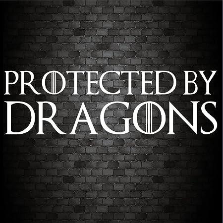 Geschützt Durch Drachen Funny Car Bumper Game Of Thrones Jdm Vinyl Aufkleber Aufkleber Auto