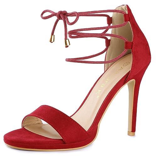 6a5192f6798 Allegra K Women's Open Toe Stiletto High Heel Ankle Strap Sandals