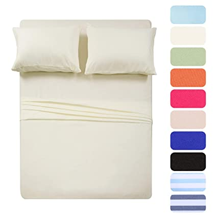 Flat Sheet Set Luxury Percale Single Double Bed Sheets King Super King Size ✔