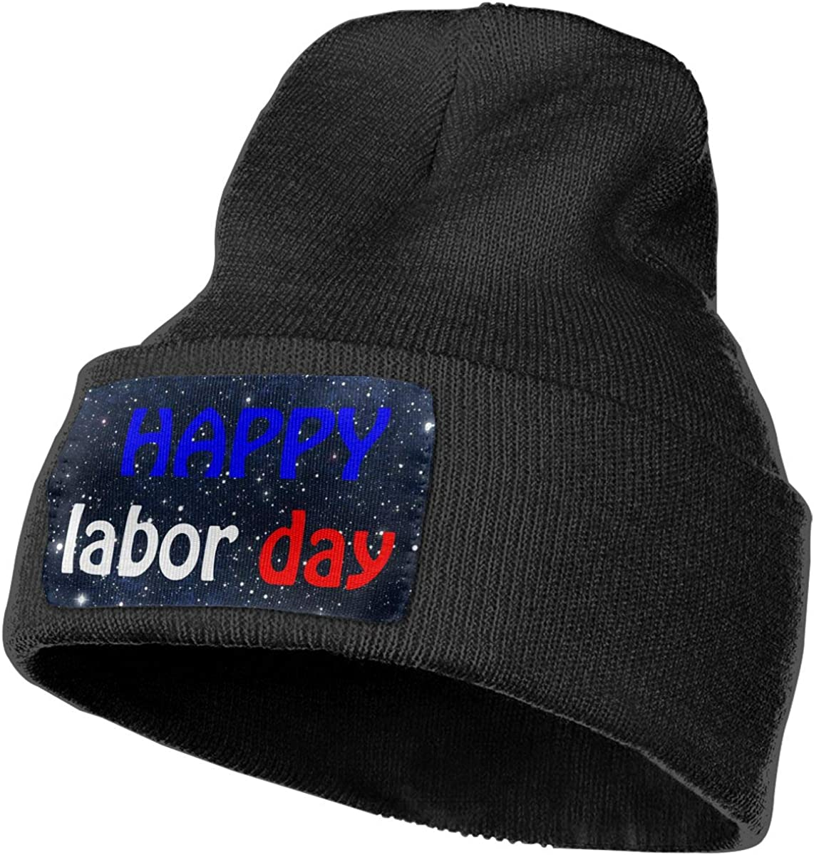 COLLJL-8 Unisex Happy Labor Day Outdoor Warm Knit Beanies Hat Soft Winter Knit Caps