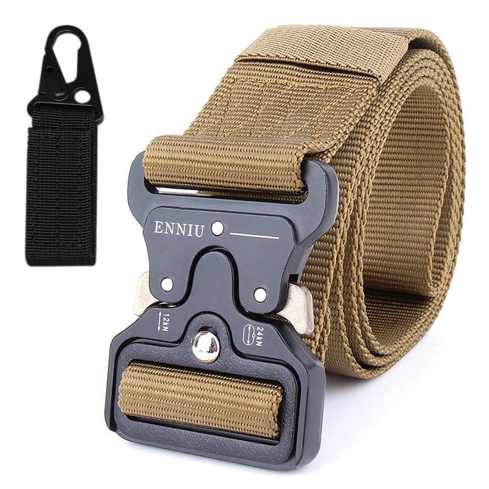 TT Cinturó n tá ctico, cinturó n de Aparejo Pesado Oculto Carry Polic EDC Caza de Supervivencia (Brown) cinturón de Aparejo Pesado Oculto Carry Polic EDC Caza de Supervivencia (Brown)