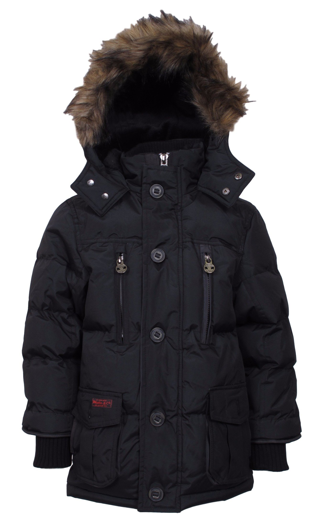 J. Whistler Base Camp Parka Bubble Snorkel Hooded Jacket Coat Insulated Black 10/12 by J. Whistler