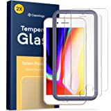 Caseology iPhone 8 Plus Screen Protector with Guide Frame [Tempered Glass] [Easy Installation] for iPhone 8 Plus / iPhone 7 Plus - 2 Pack