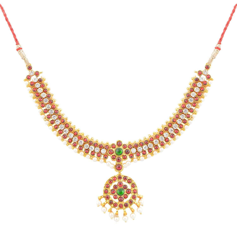 Amazon.com: Indian Jewelry - Bharatanatyam Temple Jewelry ...