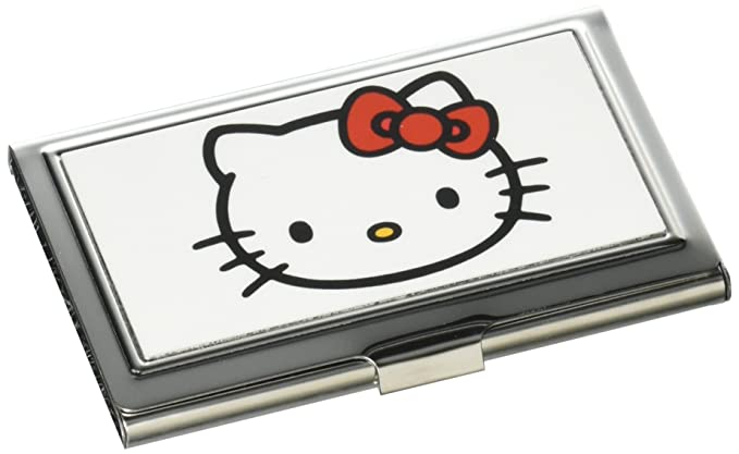 Amazon buckle down metal wallet hello kitty face fcg white buckle down business card holder hello kitty face white small reheart Choice Image