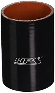 """HPS HTSC-250-L4-BLK Silicone High Temperature 4-ply Reinforced Straight Coupler Hose, 85 PSI Maximum Pressure, 4"""" Length, 2-1/2"""" ID, Black"""