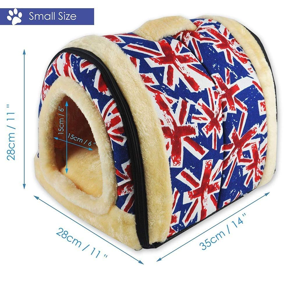 L HHA 2 In 1 Pet House and Sofa, Very Warm Insulated Padded Cosy Cave Bed house Dog Cat Kitten (Size   L)