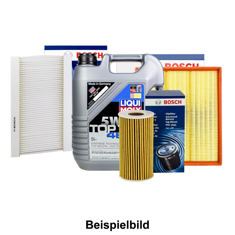 Bosch Juego de filtros inspektions del paquete + 5L Liqui Moly 5 W de 30 Renault Megane II 1.6: Amazon.es: Coche y moto