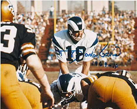 531135b9fe7 Image Unavailable. Image not available for. Color: Autographed Roman Gabriel  Picture - 1969 MVP ...