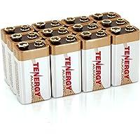 12-Pks. Tenergy 6LR61 Non rechargeable 9V Alkaline Battery