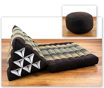 KAPOK Thai Cojín (revestimiento de una) con, triangular ...