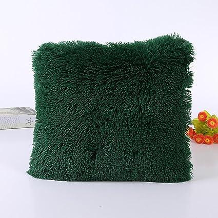 Fellimitat Flauschig Plüsch Kissenbezug Sofa Taille Schutzhülle Heim Dekoration