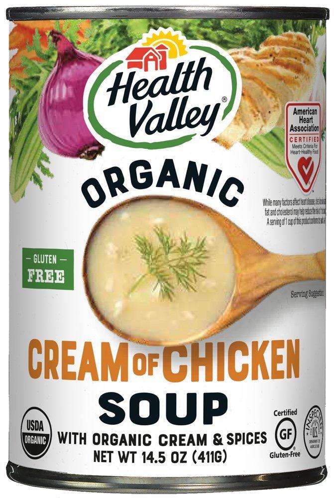 Amazoncom Health Valley Organic Soup Cream Of Chicken 145