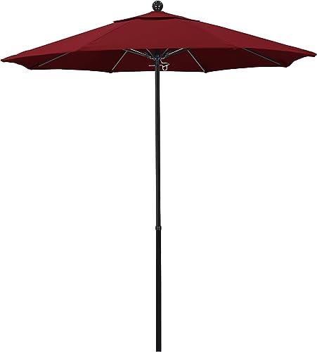 California Umbrella 7.5 Round 100 Fiberglass Frame Market Umbrella