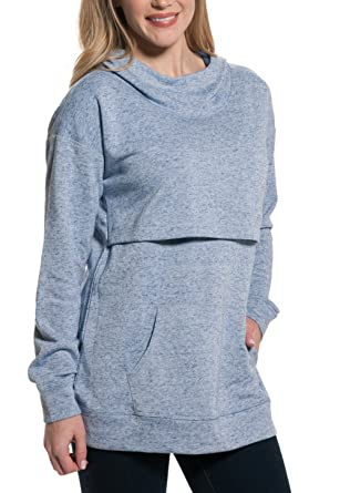 378d03aa0ccb2 Nursing Queen Drop Shoulder Nursing Hoodie -Periwinkle Blue Purple  Sweatshirt (XL)