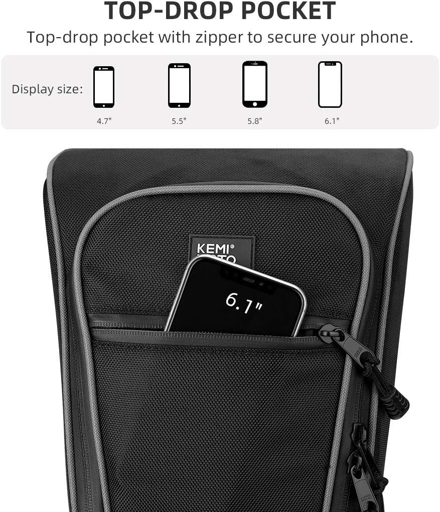 Polaris PRO XP RZR PRO XP Rear Corner Bags KEMIMOTO 1680D Rear Storage Bags Compatible with 2020