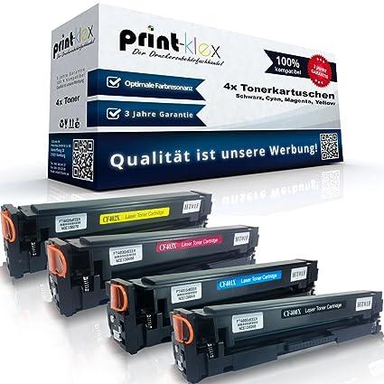 4 Cartuchos para HP Color LaserJet Pro M250 Series Pro m252dw Pro ...