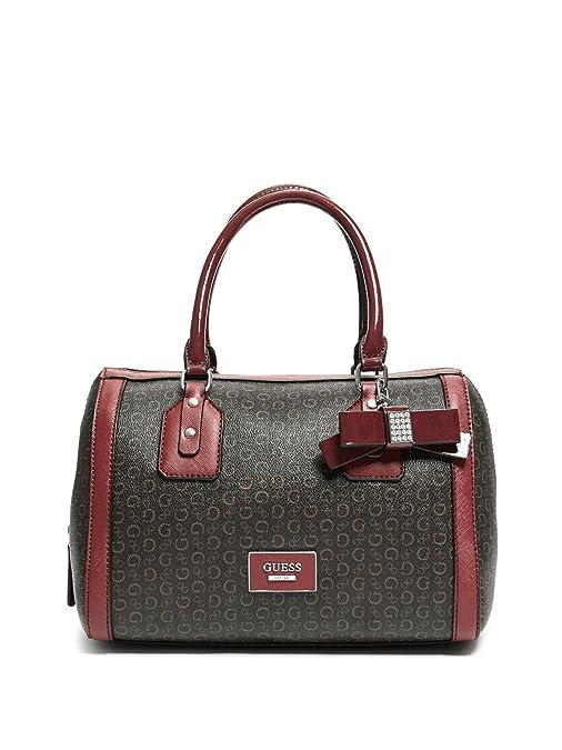 Amazon.com: GUESS Factory Burnley Faux-Leather Logo Box ...