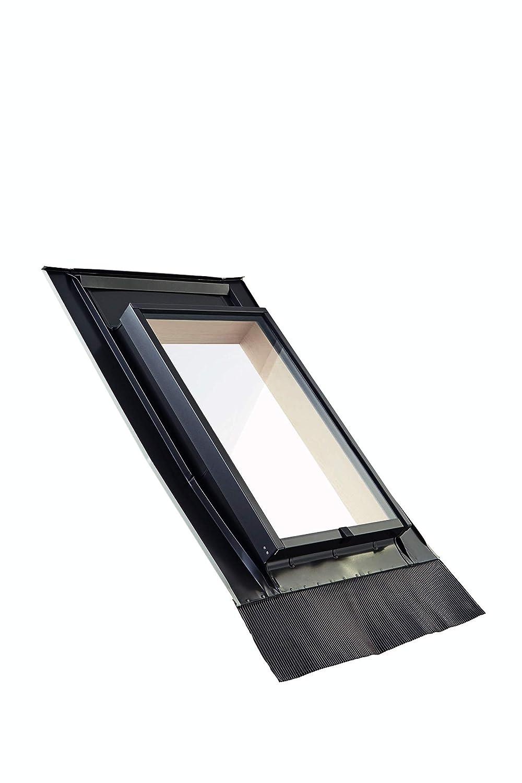 45 x 73 Roto Dachausstiegsfenster WDL R27 H f/ür Kaltdach inklusive Eindeckrahmen