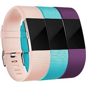 Correa Fitbit Charge 2, HUMENN Edición Especial Deportes Recambio de Pulseras Ajustable Accesorios para Fitbit Charge 2 Grande Pequeño, 15 colores