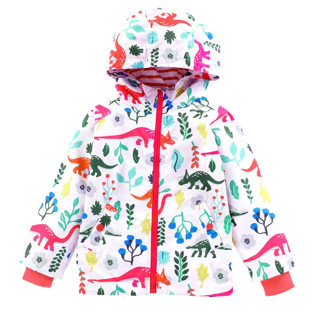 9f397c9ef7c3 LZH Boys Girls Waterproof Raincoat Hooded Jacket Dinosaur Coat ...