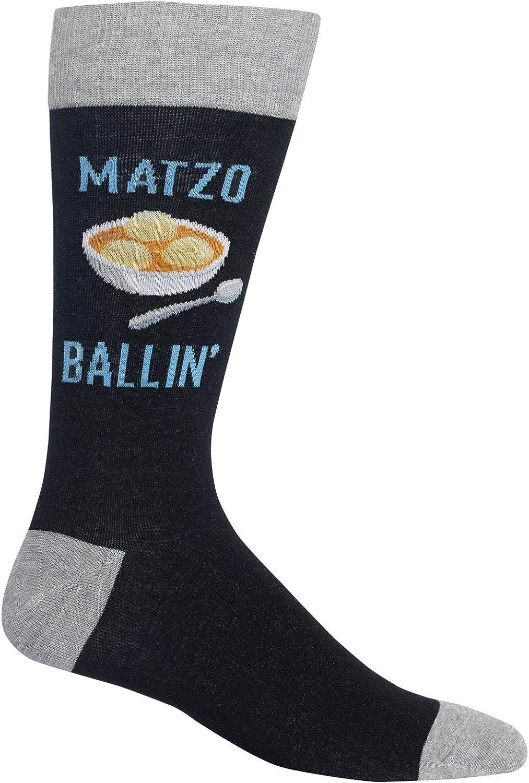 Hot Sox Mens Matzo Ballin Crew Socks