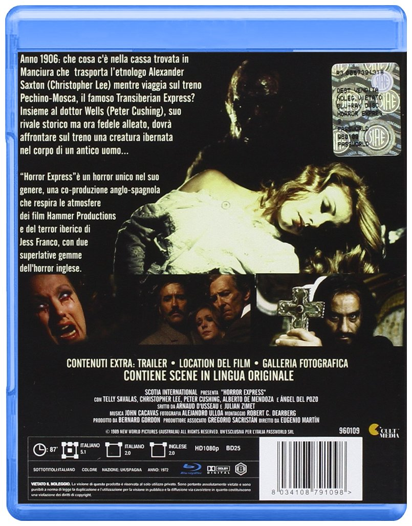 Amazon.com: Horror Express [Italian Edition]: christopher lee, telly savalas, eugenio martin: Movies & TV
